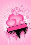 όμορφο ανοιχτό ροζ καρδιών Στοκ Εικόνα