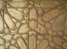 Όμορφο αραβικό σχέδιο της πόρτας ορείχαλκου της Royal Palace στο Fez, Μαρόκο Στοκ Εικόνα