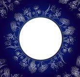 όμορφο ασήμι λουλουδιών διανυσματική απεικόνιση