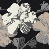 Όμορφο ατελείωτο σχέδιο με τα λουλούδια Στοκ φωτογραφίες με δικαίωμα ελεύθερης χρήσης