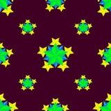 Όμορφο αφηρημένο σχέδιο με τα αστέρια που μαζεύεται στις γεωμετρικές μορφές Στοκ Εικόνες