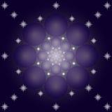 όμορφο αφηρημένο υπόβαθρο με τους κύκλους και τα αστέρια Στοκ Εικόνα