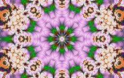 Όμορφο αφηρημένο υπόβαθρο με fractals υπό μορφή λουλουδιού στοκ φωτογραφία με δικαίωμα ελεύθερης χρήσης