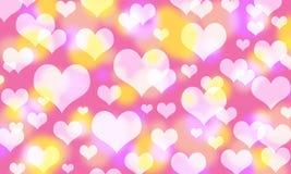 Όμορφο αφηρημένο υπόβαθρο Bokeh για την ημέρα βαλεντίνων Στοκ Εικόνα