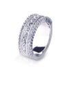 Όμορφο δαχτυλίδι ζωνών γαμήλιας επετείου διαμαντιών Στοκ Εικόνα