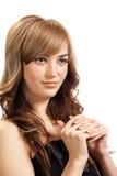 όμορφο βέβαιο κορίτσι Στοκ εικόνα με δικαίωμα ελεύθερης χρήσης
