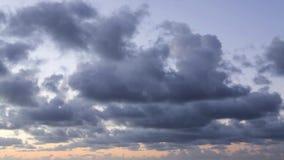 Όμορφο βίντεο χρονικού σφάλματος cloudscape απόθεμα βίντεο