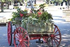 Όμορφο βαγόνι εμπορευμάτων λουλουδιών Στοκ φωτογραφία με δικαίωμα ελεύθερης χρήσης