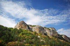 όμορφο βουνό τοπίων Βουνό στην Κριμαία Στοκ Εικόνες