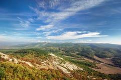 όμορφο βουνό τοπίων Βουνό στην Κριμαία Στοκ εικόνα με δικαίωμα ελεύθερης χρήσης