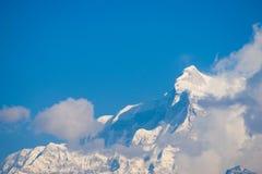Όμορφο βουνό χιονιού της σειράς Annapurna Himalayan Στοκ Φωτογραφίες