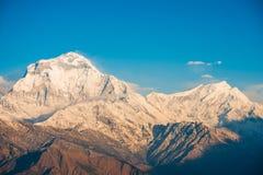 Όμορφο βουνό χιονιού της σειράς Annapurna Himalayan Στοκ φωτογραφία με δικαίωμα ελεύθερης χρήσης