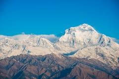 Όμορφο βουνό χιονιού της σειράς Annapurna Himalayan Στοκ Εικόνες