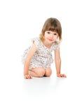 Όμορφο γέλιο μικρών κοριτσιών Στοκ Εικόνες
