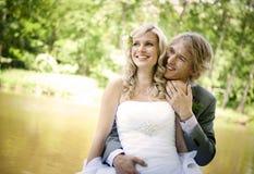 Όμορφο γαμήλιο ζεύγος Στοκ φωτογραφίες με δικαίωμα ελεύθερης χρήσης