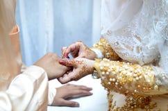 Όμορφο γαμήλιο δαχτυλίδι Στοκ Εικόνα