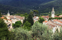 Όμορφο γαλλικό ορεινό χωριό Bargemon στοκ εικόνες