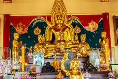 Όμορφο γλυπτό εικόνας του Βούδα σε Anek Kusala Sala Viharn Sien, ταϊλανδικός-κινεζικός ναός σε Pattaya, Ταϊλάνδη Χτίστηκε το 1987 Στοκ εικόνα με δικαίωμα ελεύθερης χρήσης