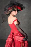 όμορφο γοητευτικό κορίτ&sigm Στοκ Εικόνες