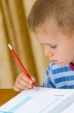 Όμορφο γράψιμο παιδιών Στοκ φωτογραφίες με δικαίωμα ελεύθερης χρήσης