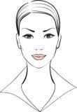 όμορφο γυναικείο διάνυσ&m απεικόνιση αποθεμάτων