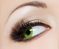 Όμορφο γυναικείο μάτι Στοκ φωτογραφία με δικαίωμα ελεύθερης χρήσης