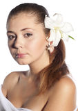 όμορφο γυναικείο πορτρέτ&o Στοκ Φωτογραφίες