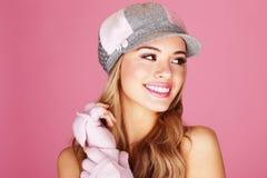 όμορφο γυναικείο όμορφο χαμόγελο Στοκ Εικόνες