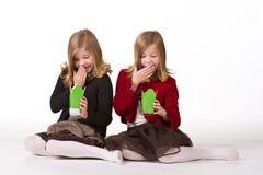 όμορφο δίδυμο κοριτσιών Χ&r Στοκ φωτογραφία με δικαίωμα ελεύθερης χρήσης