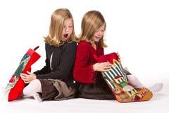 όμορφο δίδυμο κοριτσιών Χ&r Στοκ εικόνες με δικαίωμα ελεύθερης χρήσης