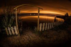 όμορφο διάνυσμα νύχτας τοπίων απεικόνισης Στοκ Εικόνα