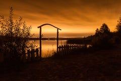 όμορφο διάνυσμα νύχτας τοπίων απεικόνισης Στοκ φωτογραφία με δικαίωμα ελεύθερης χρήσης