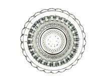 Όμορφο διακοσμητικό στοιχείο γυαλιού που απομονώνεται σε ένα άσπρο backgroun Στοκ Εικόνες