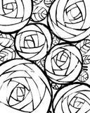 Όμορφο διακοσμητικό υπόβαθρο με τα τριαντάφυλλα διανυσματική απεικόνιση