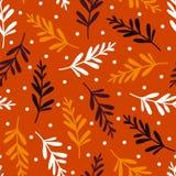 Όμορφο διαστιγμένο φθινόπωρο σχέδιο Στοκ εικόνα με δικαίωμα ελεύθερης χρήσης