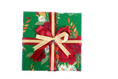 όμορφο δώρο κιβωτίων πράσινο Στοκ Εικόνα
