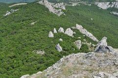 Όμορφο είδος από το βουνό στην Κριμαία Στοκ Εικόνες