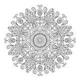 Όμορφο εθνικό Mandala Διανυσματικό στρογγυλό σχέδιο διακοσμήσεων Στοκ Εικόνα