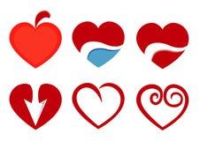 Όμορφο εικονίδιο καρδιών αγάπης Στοκ φωτογραφία με δικαίωμα ελεύθερης χρήσης
