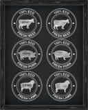 Όμορφο εικονίδιο βόειου κρέατος, χοιρινό κρέας, αρνί Στοκ εικόνα με δικαίωμα ελεύθερης χρήσης