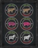 Όμορφο εικονίδιο βόειου κρέατος, χοιρινό κρέας, αρνί Στοκ Εικόνα