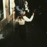 Όμορφο εκλεκτής ποιότητας κορίτσι Στοκ Φωτογραφίες