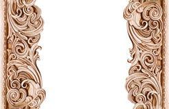 Όμορφο εκλεκτής ποιότητας ξύλινο πλαίσιο που απομονώνεται στο άσπρο υπόβαθρο με το διάστημα για το κείμενο Στοκ Εικόνα