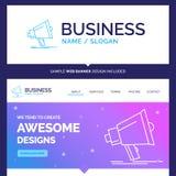 Όμορφο εμπορικό σήμα Bullhorn επιχειρησιακής έννοιας, ψηφιακό, marketi απεικόνιση αποθεμάτων