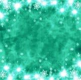Όμορφο εορταστικό αφηρημένο υπόβαθρο grunge με snowflakes και τα λάμποντας αστέρια Στοκ Εικόνα