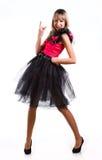 όμορφο εορταστικό κορίτσι φορεμάτων Στοκ φωτογραφίες με δικαίωμα ελεύθερης χρήσης
