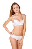 Όμορφο λεπτό κορίτσι lingerie Στοκ φωτογραφία με δικαίωμα ελεύθερης χρήσης