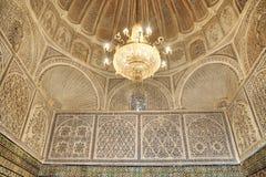 όμορφο εσωτερικό μουσουλμανικό τέμενος κουρέων Στοκ φωτογραφία με δικαίωμα ελεύθερης χρήσης