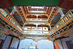 Όμορφο εσωτερικό σπιτιών του Θιβέτ Στοκ εικόνα με δικαίωμα ελεύθερης χρήσης
