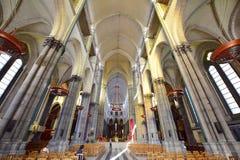 Όμορφο εσωτερικό της βασιλικής της Notre Dame de Λα Treille Στοκ Φωτογραφία